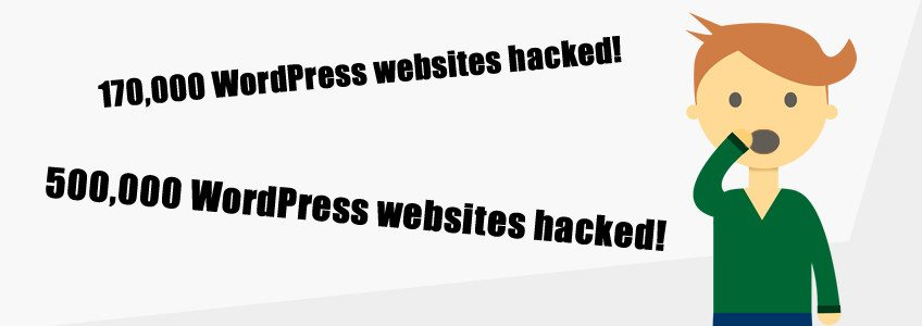 Number of WordPress websites hacked